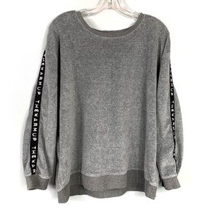 Jessica Simpson The Warm Up Grey Sweatshirt Sz XL